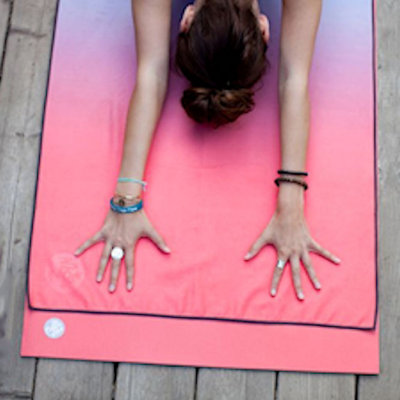 Yoga mat grip towel